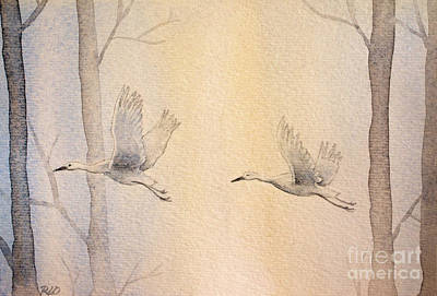 Painting - Misty Flight by Rebecca Davis