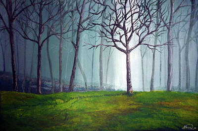 Painting - Misty Forest by Alban Dizdari