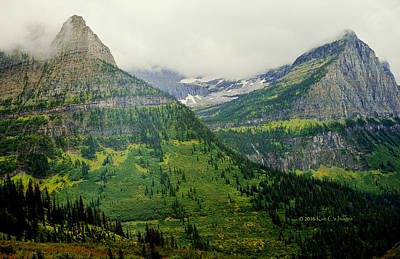 Art Print featuring the photograph Misty Glacier National Park View by Kae Cheatham