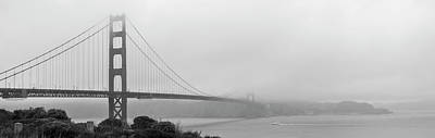 Photograph - Misty Golden Gate by Maj Seda