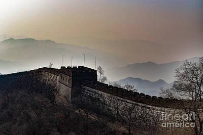 Photograph - Misty Great Wall Of China At Mu Tian Yu by Nicholas Braman
