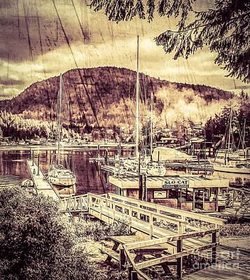 Photograph - Misty Harbor by William Wyckoff