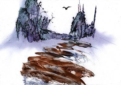 Mixed Media - Misty Heights by Zilpa Van der Gragt