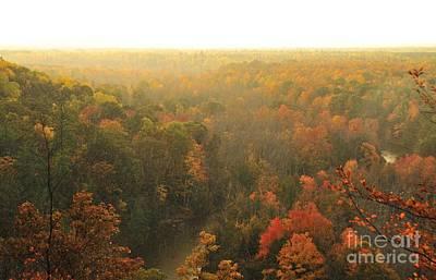 Fall Photograph - Misty High Rollaways by Terri Gostola