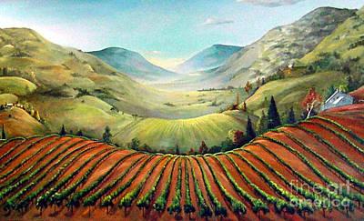 Misty Hills Art Print by Barbara Wilson