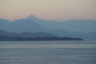 Misty Hills On The Strait Art Print