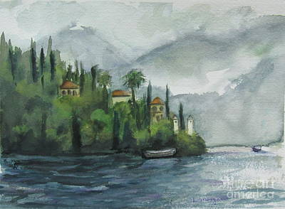 Painting - Misty Island by Laurie Morgan