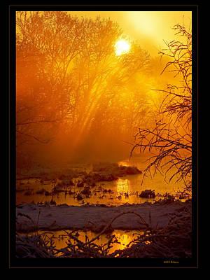 Misty Kentucky Sunrise Art Print by Keith Bridgman