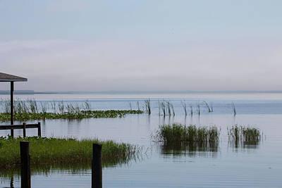 Photograph - Misty Lake by Dart and Suze Humeston