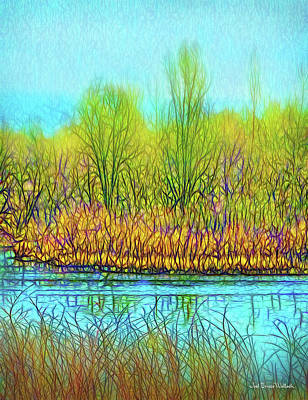 Digital Art - Misty Lake Dream by Joel Bruce Wallach