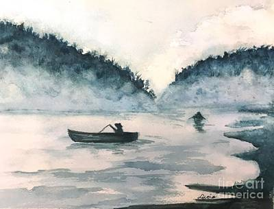 Painting - Misty Lake by Lucia Grilletto