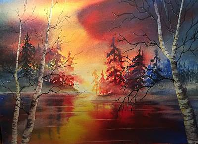 Painting - Misty Lake by Marilyn Jacobson