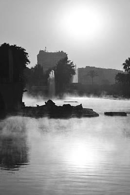 Photograph - Misty Lake Monochrome by Marek Stepan