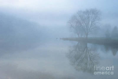 Digital Art - Misty Lake Morning by Randy Steele