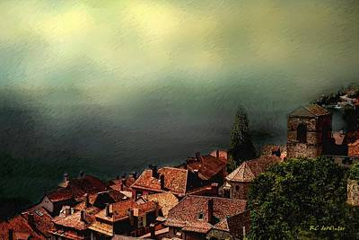 Painting - Misty Lakeside Morning by RC DeWinter