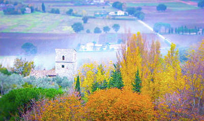 Photograph - Misty Landscape In Assisi, Italy by Carmen Tosca