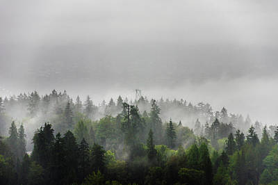 Photograph - Misty Lions Gate View by Ross G Strachan
