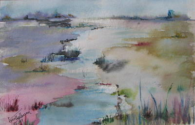 Painting - Misty Marsh by Dorothy Herron