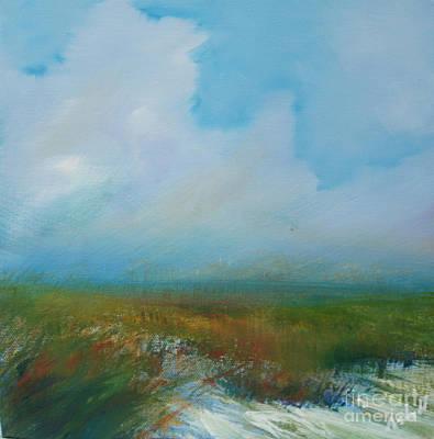 Misty Marsh Art Print