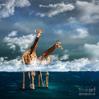 Surreal Digital Art - Misty by Martine Roch