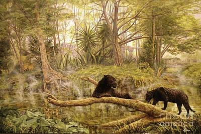 Mayan Jaguar Painting - Misty Mayan Morning by Paul Henderson