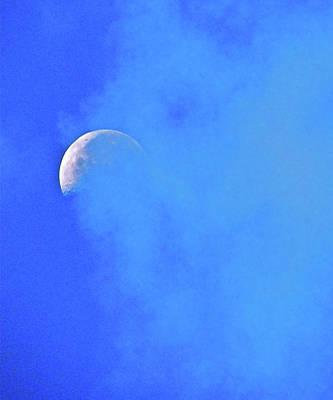 Misty Moon Art Print