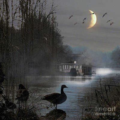 Misty Moonlight Art Print