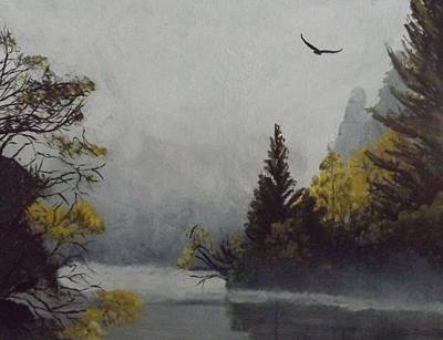 Painting - Misty Morning 2 by Pamela Anderson