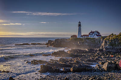 Photograph - Misty Morning At Portland Head by Rick Berk