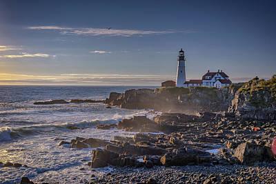 Photograph - Misty Morning At Portland Head by Rick Berk