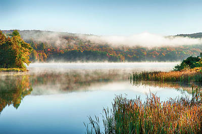 Photograph - misty morning - Banard Vermont by Jeff Folger