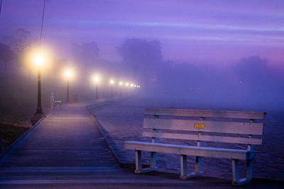 Photograph - Misty Morning Boardwalk by Bill Pevlor