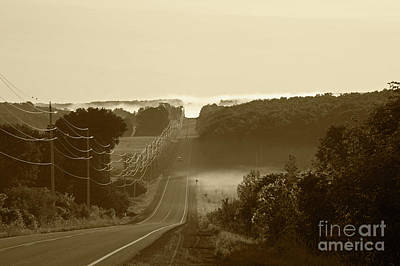 Photograph - Misty Morning Drive by Elaine Mikkelstrup