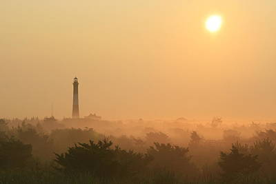 Misty Morning Fire Island Light Art Print