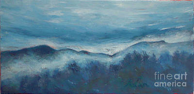 Painting - Misty Morning Fog Mount Mansfield Panorama Painting by Felipe Adan Lerma