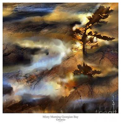 Northern Ontario Painting - Misty Morning Georgian Bay Ont. by Bob Salo