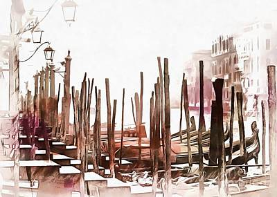Photograph - Misty Morning In Venice Painted Effect by Dorothy Berry-Lound