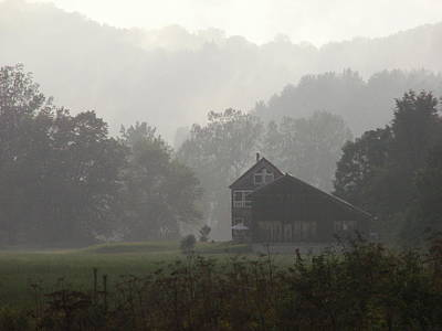 Photograph - Misty Morning In Vermont by Nancy Griswold