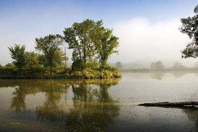 Photograph - Misty Morning Island Trees by Christina Rollo