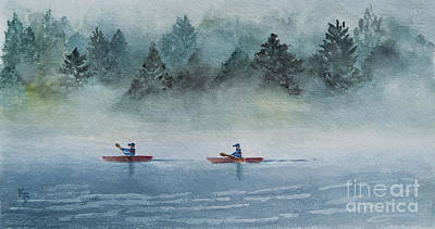 Painting - Misty Morning by Karen Fleschler