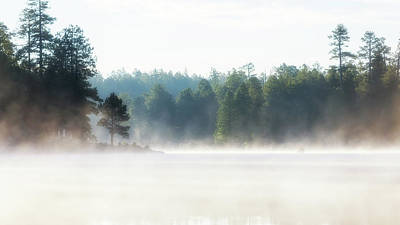 Photograph - Misty Morning Lake At Sunrise by Susan Schmitz
