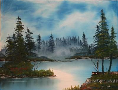 Misty Morning Art Print by Larry Hamilton
