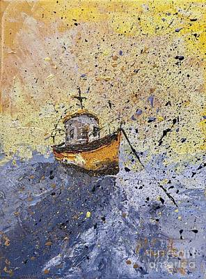 I Am Sailing Painting - Misty Morning by Mary Cullen