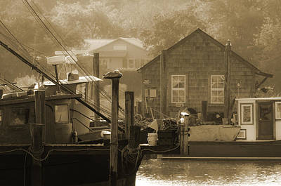 Shem Creek Photograph - Misty Morning On Shem Creek  by Melissa Wyatt