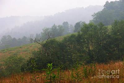 Misty Morning On The Farm Art Print by Thomas R Fletcher