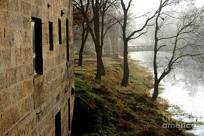 Misty Morning On The Illinois Michigan Canal  Art Print
