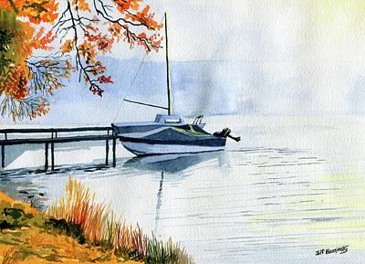 Painting - Misty Morning On The Lake by Jeff Blazejovsky