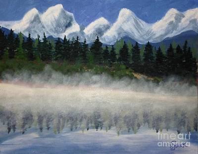 Misty Morning On The Mountain Art Print