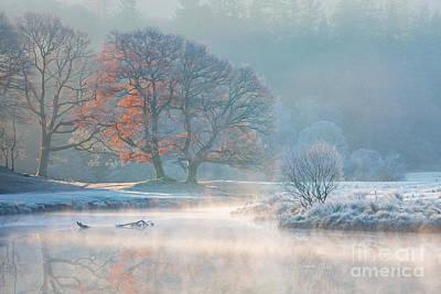 Misty Morning On The River Brathay Art Print
