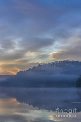 Outdoor Graphic Tees - Misty Morning Pastel Dawn by Thomas R Fletcher